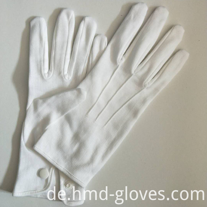 White Cotton Snap Gloves For Police 4
